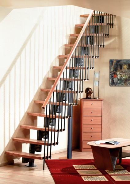 Bouwpakkettrappen doe het zelf trappen houten trappen en stalen trappen - Metalen trap design hout ...