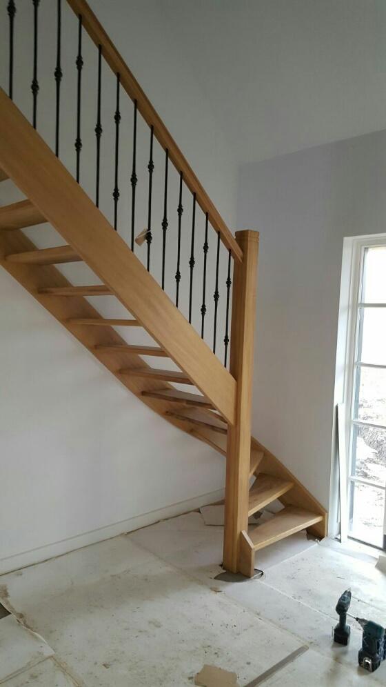 Onderkwart trap iroko hout