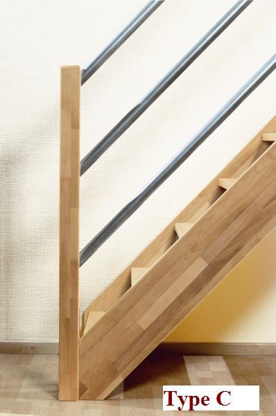 Beuken houten trap savoie for Spiltrap hout