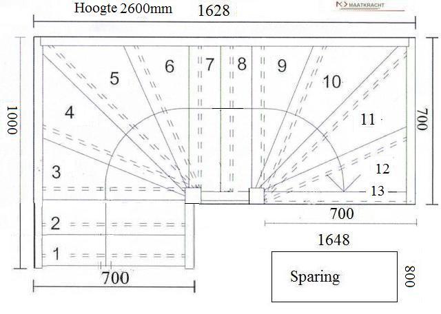 Tweekwarten trap 7002 T1 K2T1K2600RO