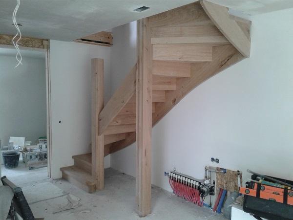 Robuust eiken trappen
