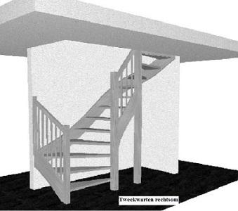 tweekwarten trap rechts