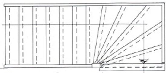 Trap maten van een bovenkwarttrap rechtsdraaiend for Maten trap